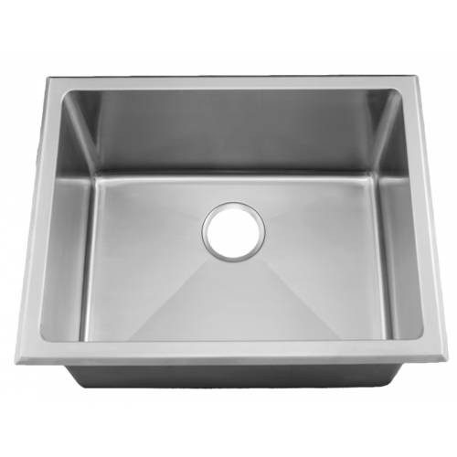 24 inch zero radius kitchen sink stainless steel